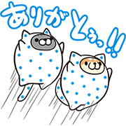「CALPIS WATER」 × mofuya Sticker for LINE & WhatsApp | ZIP: GIF & PNG