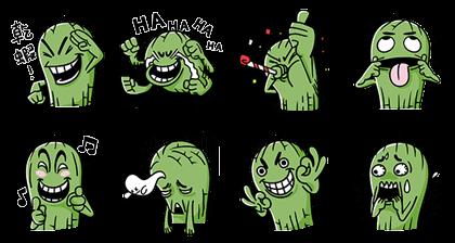 101 Original & Mr. Cactus Line Sticker GIF & PNG Pack: Animated & Transparent No Background | WhatsApp Sticker