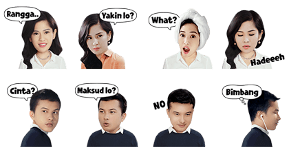 AADC 2014: Cinta & Rangga Stickers Line Sticker GIF & PNG Pack: Animated & Transparent No Background | WhatsApp Sticker