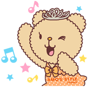 AMO'S Bear(AMO'S STYLE character) Sticker for LINE & WhatsApp | ZIP: GIF & PNG