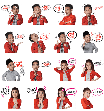 Agent Zizan and Agent Lizzy Line Sticker GIF & PNG Pack: Animated & Transparent No Background | WhatsApp Sticker