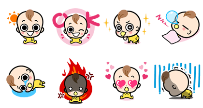 Alice Baby Line Sticker GIF & PNG Pack: Animated & Transparent No Background | WhatsApp Sticker