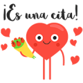 Amador Heart Sticker for LINE & WhatsApp   ZIP: GIF & PNG