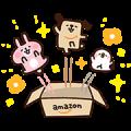 Amazon.co.jp's Pochi & Kanahei Stickers Sticker for LINE & WhatsApp | ZIP: GIF & PNG