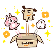 Amazon.co.jp's Pochi & Kanahei Stickers Sticker for LINE & WhatsApp | ZIP: GIF & PNG