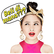 Andien The Fashion Diva Sticker for LINE & WhatsApp | ZIP: GIF & PNG