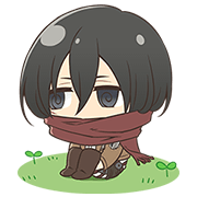 Attack on Titan Chimi-Chara Ver. Part 2 Sticker for LINE & WhatsApp | ZIP: GIF & PNG