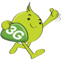 Aunjai 3G 2100 Sticker for LINE & WhatsApp | ZIP: GIF & PNG