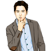 Aunjai & James Ji Sticker for LINE & WhatsApp | ZIP: GIF & PNG