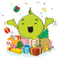 Aunjai New Year 2014 Sticker for LINE & WhatsApp | ZIP: GIF & PNG