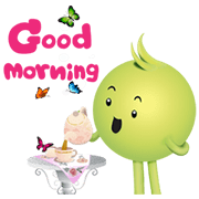 Aunjai's Joyful Day Sticker for LINE & WhatsApp | ZIP: GIF & PNG