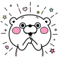 Bear and Rabbit 100% Stickers Sticker for LINE & WhatsApp | ZIP: GIF & PNG
