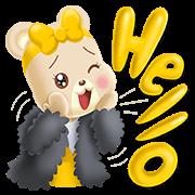 Billy & Bella the Krungsri Sweetie Bear Sticker for LINE & WhatsApp   ZIP: GIF & PNG