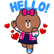 CHOCO: Brown's Little Sister Sticker for LINE & WhatsApp | ZIP: GIF & PNG