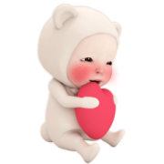 Carefree Bear Towel Sticker for LINE & WhatsApp | ZIP: GIF & PNG