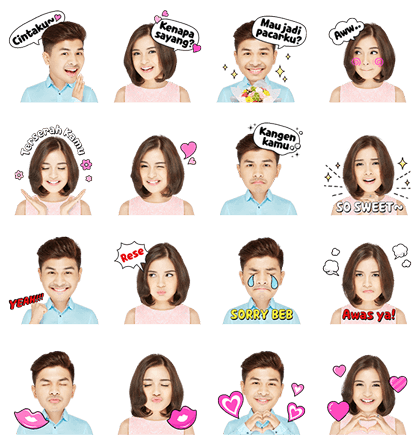 Chelsea-Glenn Power Couple Line Sticker GIF & PNG Pack: Animated & Transparent No Background | WhatsApp Sticker