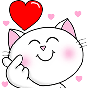Cool Happy Cats:At Your Side (Big+Sound) Sticker for LINE & WhatsApp | ZIP: GIF & PNG