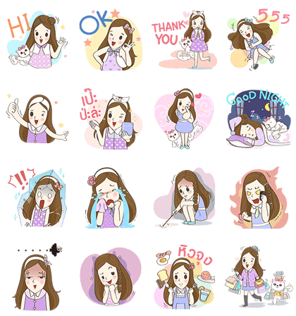 Cutie | 6557 Line Sticker GIF & PNG Pack: Animated & Transparent No Background | WhatsApp Sticker