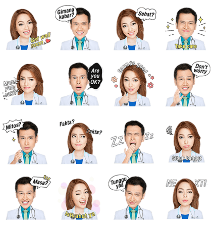 Daily Life of Doctors Line Sticker GIF & PNG Pack: Animated & Transparent No Background | WhatsApp Sticker
