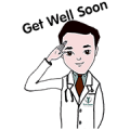Dr. Bumrung and Miss Grace Sticker for LINE & WhatsApp | ZIP: GIF & PNG