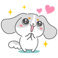 Fappy the Dog Sticker for LINE & WhatsApp | ZIP: GIF & PNG