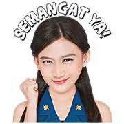 Fly Away with Melody JKT48 Sticker for LINE & WhatsApp | ZIP: GIF & PNG