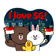 Happy National Day, Singapore! Sticker for LINE & WhatsApp | ZIP: GIF & PNG