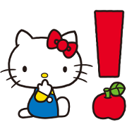Hello Kitty 70's Sticker for LINE & WhatsApp | ZIP: GIF & PNG
