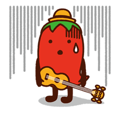 Hot Pepper Gourmet Peparo Sticker for LINE & WhatsApp | ZIP: GIF & PNG
