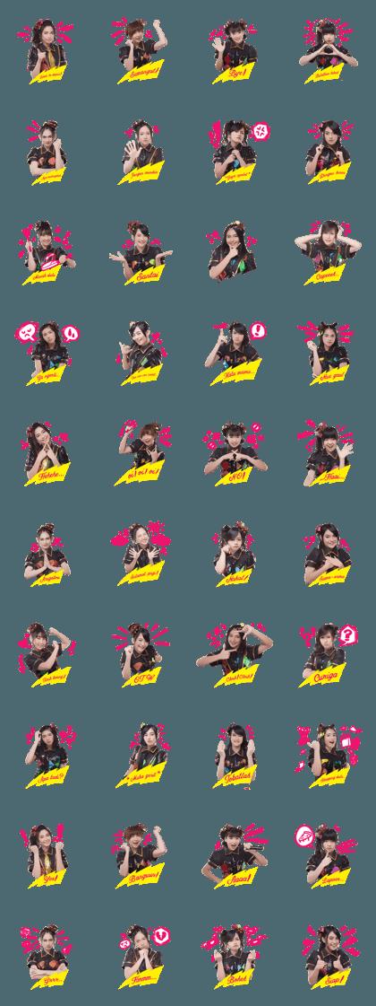 JKT48 - Hanya Lihat Ke Depan Line Sticker GIF & PNG Pack: Animated & Transparent No Background | WhatsApp Sticker