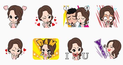 Jessy Mendiola Line Sticker GIF & PNG Pack: Animated & Transparent No Background | WhatsApp Sticker