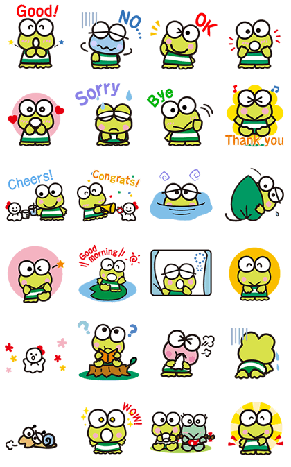 KEROKEROKEROPPI for Formal Occasions Line Sticker GIF & PNG Pack: Animated & Transparent No Background | WhatsApp Sticker