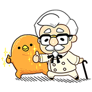 KFC & Mofuya: Delicious Collaboration Sticker for LINE & WhatsApp | ZIP: GIF & PNG