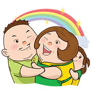 Knorr: Chubby Family Sticker for LINE & WhatsApp | ZIP: GIF & PNG