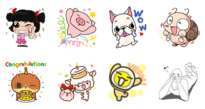 LINE Creators Market: First Anniversary | 4477 Line Sticker GIF & PNG Pack: Animated & Transparent No Background | WhatsApp Sticker