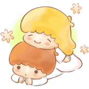 Little Twin Stars: Onomatopoeia Stickers Sticker for LINE & WhatsApp | ZIP: GIF & PNG