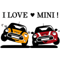 MINI Japan Official Stickers Sticker for LINE & WhatsApp | ZIP: GIF & PNG