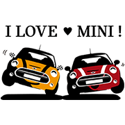 MINI Japan Official Stickers Sticker for LINE & WhatsApp   ZIP: GIF & PNG