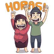 Medan - Abang and Mamak Sticker for LINE & WhatsApp | ZIP: GIF & PNG