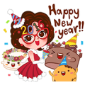 Miss Pat & Friends' Sweeter '16 Sticker for LINE & WhatsApp | ZIP: GIF & PNG