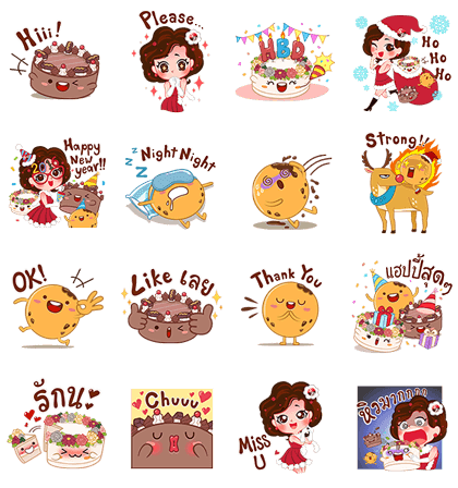 Miss Pat & Friends' Sweeter '16 Line Sticker GIF & PNG Pack: Animated & Transparent No Background | WhatsApp Sticker