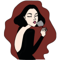 Miss V and friend Sticker for LINE & WhatsApp | ZIP: GIF & PNG