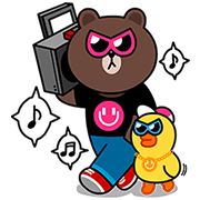 MixRadio plays music with LINE Sticker for LINE & WhatsApp | ZIP: GIF & PNG