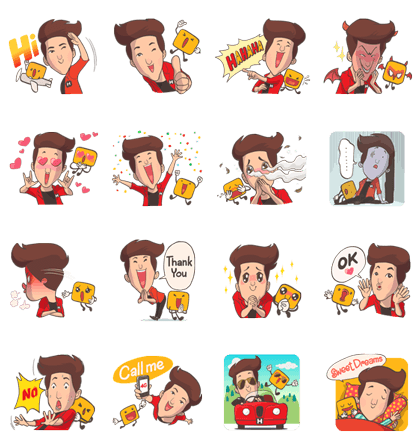 Mr.H & James Ma Line Sticker GIF & PNG Pack: Animated & Transparent No Background | WhatsApp Sticker