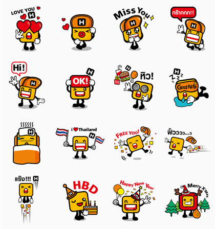 Mr. H | 658 Line Sticker GIF & PNG Pack: Animated & Transparent No Background | WhatsApp Sticker