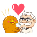 New Characters! Colonel Sanders Round 2 Sticker for LINE & WhatsApp | ZIP: GIF & PNG