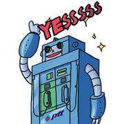 PTT Technobots Sticker for LINE & WhatsApp | ZIP: GIF & PNG