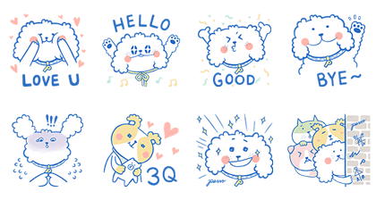 Pazzo-Daydreamer Papa Doggy Line Sticker GIF & PNG Pack: Animated & Transparent No Background | WhatsApp Sticker