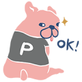 Pazzo - Dog P. Sticker for LINE & WhatsApp | ZIP: GIF & PNG