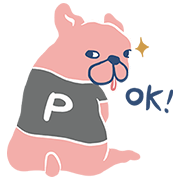 Pazzo - Dog P. Sticker for LINE & WhatsApp | ZIP: GIF & PNG